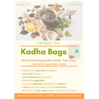 ANDEES Herbal Immunity booster in bags / Herbal bags / 25 individually sealed bags / Immunity booster / Relief from Cold & Cough / Fever/Weight loss / Stayfit / Kadha in Tea-bags